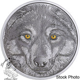 Canada: 2017 $15 In The Eyes of the Wolf Silver Coin