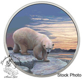 Canada: 2018 $30 Arctic Animals and Northern Lights: Polar Bear Fine Silver Coin