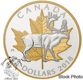 Canada: 2018 $25 Piedfort Timeless Icons: Caribou Fine Silver Coin