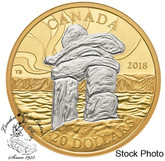 Canada: 2018 $20 Canada's Iconic Inukshuk: Guiding the Way Fine Silver Coin