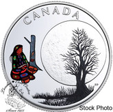 Canada: 2018 $3 The Thirteen Teachings From Grandmother Moon: Sugar Moon Fine Silver Coin