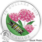 Canada: 2018 $20 Little Creatures: Monarch Caterpillar Fine Silver Coin