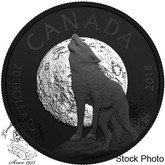 Canada: 2018 $20 Nocturnal by Nature: The Howling Wolf Fine Silver Coin