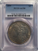 United States: 1899 Morgan Dollar PCGS AU50