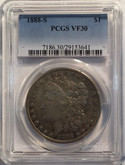 United States: 1888-S Morgan Dollar PCGS VF30