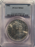 United States: 1882 Morgan Dollar PCGS MS64