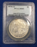 United States: 1878-CC Morgan Dollar PCGS MS62
