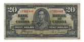 Canada: 1937 $20 Bank Of Canada J/E