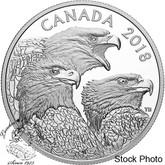 Canada: 2018 $15 Magnificent Bald Eagles 1 oz Silver Coin
