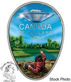 Canada: 2018 $20 Canada's Unexplained Phenomena: The Falcon Lake Incident.  1 oz. Pure Silver Glow in the Dark Coin