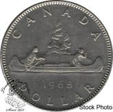 Canada: 1968 $1 No Island AU