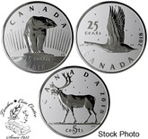 Canada: 2018 25 Cents Royal Canadian Mint Coin Lore: The Coins That Never Were - 1 oz. Pure Silver 3-Coin Set