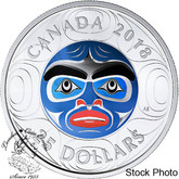 Canada: 2018 $25 Ancestor Moon Mask - Pure Silver Ultra-High Relief Coin