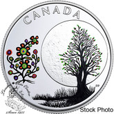 Canada: 2018 $3 The Thirteen Teachings From Grandmother Moon: Flower Moon Fine Silver Coin