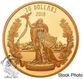 Canada: 2018 $20 A Modern Allegory: Borealia - 1 oz. Pure Silver Gold-Plated Coin