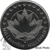 Canada: 1999 Millennium Token 25 Cent Proof Like