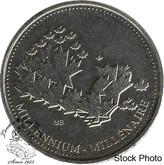 Canada: 2000 Millennium Token 25 Cent Proof Like