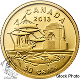 Canada: 2013 50 Cents 300th Anniversary of Louisbourg 1/25 Gold Coin