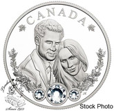 Canada: 2018 $20 The Royal Wedding of HRH Prince Harry and Ms. Meghan Markle - 1 oz. Pure Silver Coin