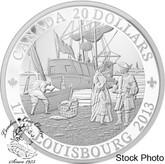 Canada: 2013 $20 300th Anniversary of Louisbourg Pure Silver Coin