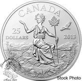 Canada: 2013 $25 An Allegory 1 oz Pure Silver Coin