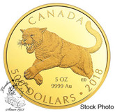 Canada: 2018 $500 Cougar Pure Gold Coin