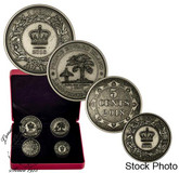 !WITH BONUS! Canada: 2018 Before Confederation: Colonial Currency of the Atlantic Provinces Pure Silver 4-Coin Set