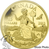 Canada: 2013 $25 An Allegory 1/4 oz Pure Gold Coin