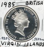 British Virgin Islands: 1985 $20 Proof Silver Coin