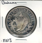Bahama Islands: 1972 $1 Proof Silver Coin