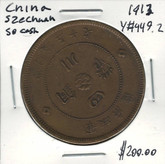 China: 1913 Szechuan Province 50 Cash