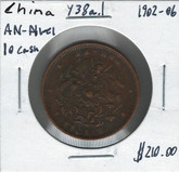 China: 1902-06 ANHWEI Province 10 Cash Y38a.1