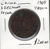 China: 1909 Szechuan Province 20 Cash