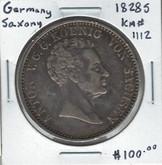German States: Saxony: 1828s Thaler