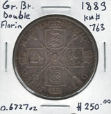 Great Britain: 1889 Double Florin