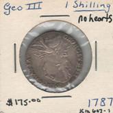 United Kingdom: 1787 1 Shilling George III No Hearts