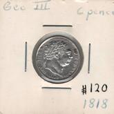 United Kingdom: 1818 6 Pence George III