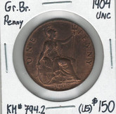 Great Britain: 1904 Penny UNC (Traces of Red)