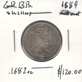 Great Britain: 1889 Shilling Small Bust