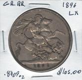 Great Britain: 1896 Crown LX