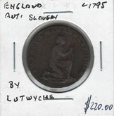 England: Anti Slavery Token c1795 By Lutwyche