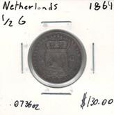 Netherlands: 1864 1/2 Guilden