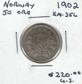 Norway: 1902 50 Ore