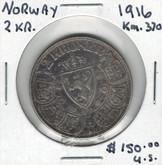 Norway: 1916 2 Kroner