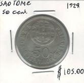 Sao Tome: 1929 50 Centavos