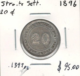 Straits Settlements: 1896 20 Cents
