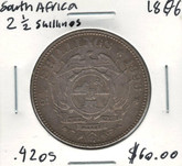 South Africa: 1896 2 1/2 Shillings