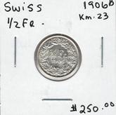 Switzerland: 1906B 1/2 Fr.