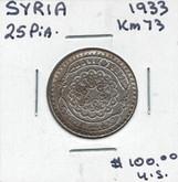 Syria: 1933 25 Pia.