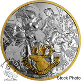 Canada: 2018 $20 First World War Allies: Newfoundland 1 oz. Pure Silver Gold-Plated Coin
